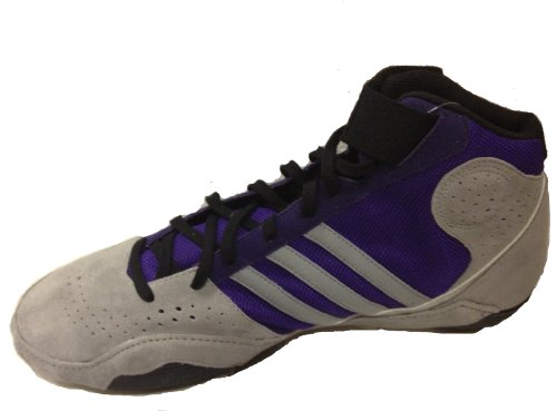 Adidas Protactic 2 Wrestling Shoes - Grey/Purple/Silver - ADULT SIZE 11 by adidas