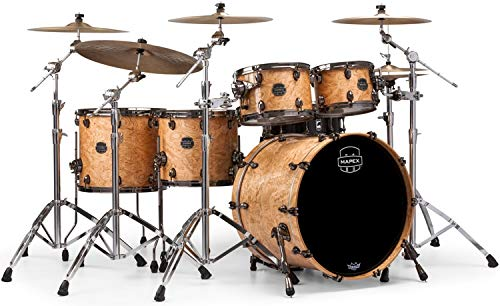 (Mapex Saturn V MH Exotic 5-piece Shell Pack - Natural Maple Burl)