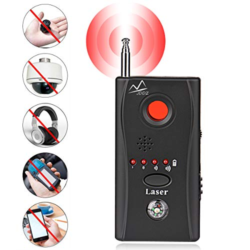 Anti Spy Hidden Camera Detector, Wireless RF Bug Hidden Camera Lens Detector Radio Wave Signal Detect Full-Range GSM Device Finder for Anti Eavesdropping Candid GPS Tracker