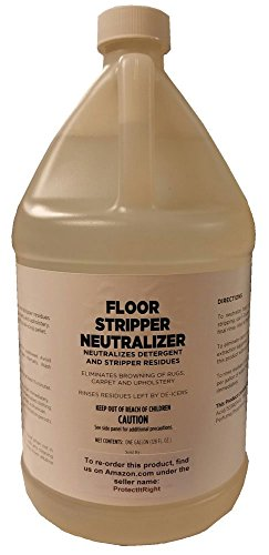 Floor Stripper Neutralizer for Maintenance of Hard and Resilient Floors