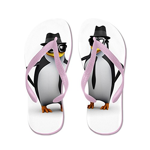 Echt Teague Heren Cool Pinguins Rubberen Slippers Roze Sandalen