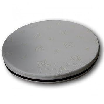 Ventadecolchones - Colchón Redondo Visco 3. Diamtero 200 cm y 3 cm de viscoelástica: Amazon.es: Hogar