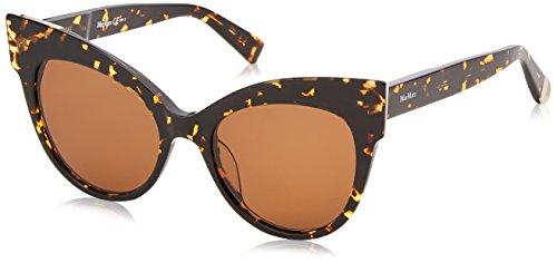Max Mara Women's Mm Anita Polarized Cateye Sunglasses, DKHAVANA, 52 ()