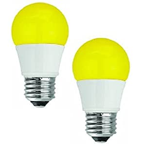 TCP 40W Equivalent LED Yellow Bug Light Bulbs, Non-Dimmable (2 Pack)