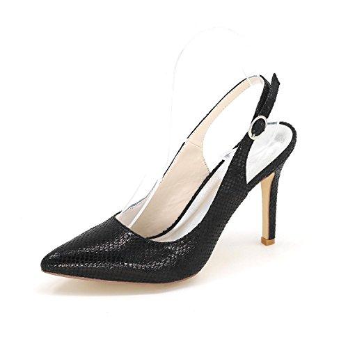L@YC Tacones altos De Las Mujeres Señaló OtoñO Invierno Noche Boda/Fiesta Y Zapatos MáS Colores Disponibles Black