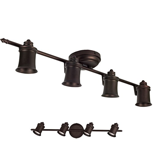 Awesome 4 Light Track Lighting Wall U0026 Ceiling Mount Fixture Kitchen And Dining Room      Amazon.com Gallery