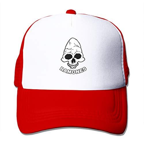 (Ramones Personality Unisex Adjustable Truck Driver Cap Red)