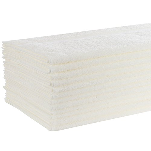 Luxury Organic Cotton Bath Towel 12 Pack - LARGE - Perfect For Those With Sensitive Skin, Including Infants, Toddlers, and Kids of All Ages - Hypo-Allergenic and Free of Harsh Chemicals and Dyes by Caribbean Natural