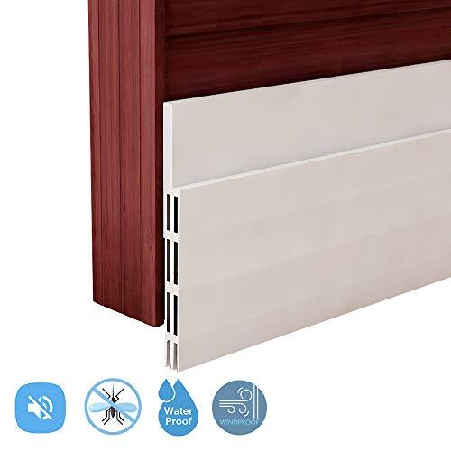 Weletric Energy Efficient Door Under Seal, Door Draft Stopper, Door Noise Stopper & Soundproofing Door Weather Stripping (White)