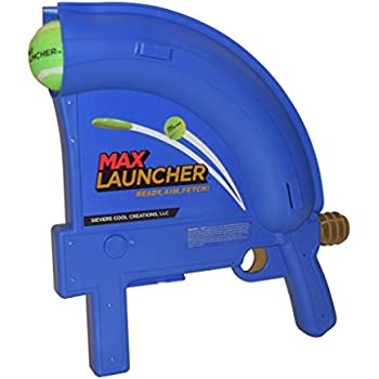 Max Launcher Dog Ball Launcher- Launches Tennis Balls and Mini Frisbee Discs up to 90 Feet!!
