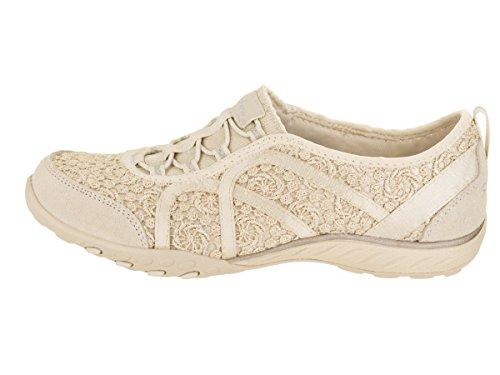 Natural Top Sweet Breathe Darling Silver Easy Women's Skechers Low Sneakers 8xUYwx