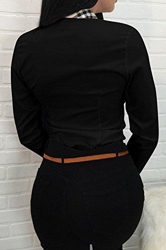 Slim Le Col Droit Est Shirt La Femme Black T Jumojufol Haut Digne qn1w8YIx