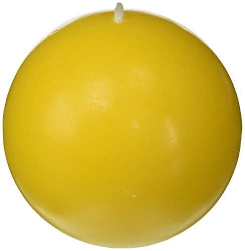 - Zest Candle 6-Piece Ball Candles, 3-Inch, Yellow