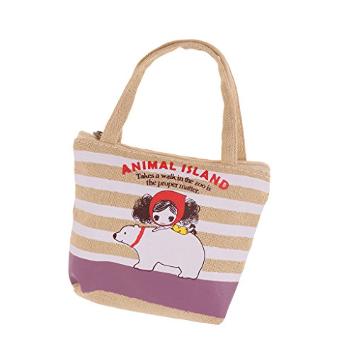 3 Shoulder Lovely Lolita Striped Outfit for Bag American Dolls 1 Canvas Big Baoblaze Handbags RawFzAxRq