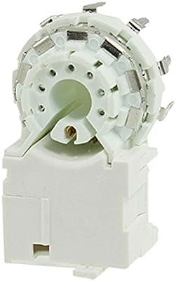 GZS8-6-5 TV conjuntos de reemplazo de 7 espigas terminales CRT Socket blanco: Amazon.es: Electrónica