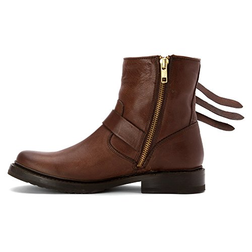 Veronica Boot Strap Ankle Women's FRYE Chocolate ZfqHH