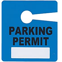 Parking Permit Pass Stock Hang Tags for Employees, Tenants, Students, Businesses, Office, Apartments, 10 Pack (Blue)