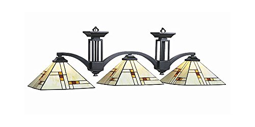 Fixture Light Stained Glass Table - Brooklyn 60W Inch Pool Table Light