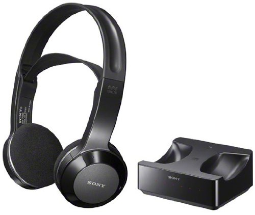 Sony Long Range Wireless Stereo Headphones with Wide Comfortable Headband, Volume Control and Mute Switch for all Toshiba 40L5200U, 46L5200U, 50L5200U, 24V4210U, 39L22U, 65HT2U, 40E220U 32L4200U LED LCD HDTV Flat Screen Television – Works Up To 26 feet Away