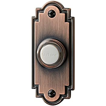 Nutone Pb15lbr Wired Lighted Door Chime Push Button Oil