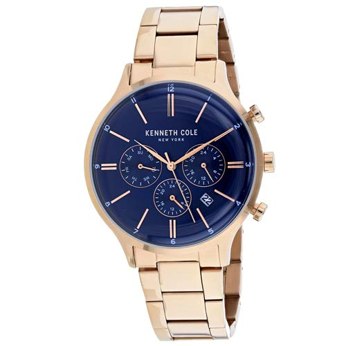 Kenneth Cole New York Men's Quartz Stainless Steel Casual Watch, Color:Rose Gold-Toned (Model: KC15177001)