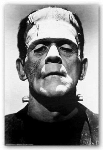 Frankenstein Movie (Boris Karloff, Close-Up) Poster Print 24 x 36in]()