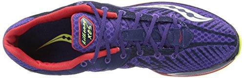 Saucony Herren Kilkenny XC5 Spike Langlauf Spike Schuh Lila / Rot / Zitrone