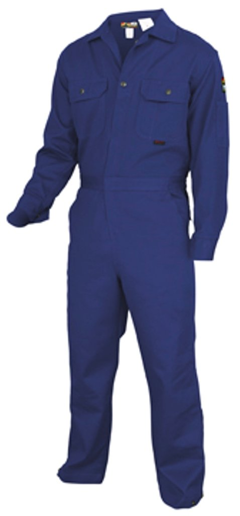 MCR Safety DC1B44T Deluxe Contractor Flame Resistant Coveralls, Size 44 Tall, Chest 44-Inch, Waist 38-Inch, Inseam 32-Inch, Royal Blue by MCR Safety (Image #1)
