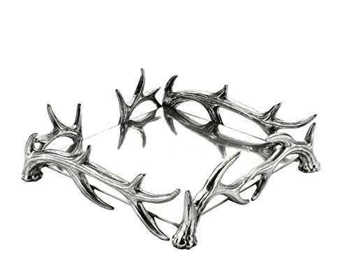 Court Cocktail - Arthur Court Designs Aluminum Deer Antler Luncheon Napkin Box