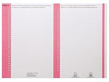 LOblique AZ - Etiquetas para armario archivador (10 hojas), color rosa