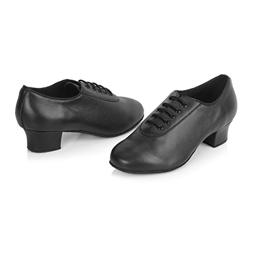Roymall Womens Leather Latin Dance Shoes/Salsa Shoes/Ballroom Dance Shoes,Model AF50 Black-1