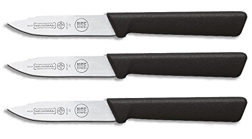 Mundial SC0548-3 3-Inch Clip Point Paring Knife Collection, Set of 3, Black