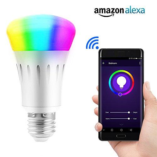 lvgoo wifi smart led light bulb works with amazon echo alexa smartphone wireless remote control. Black Bedroom Furniture Sets. Home Design Ideas
