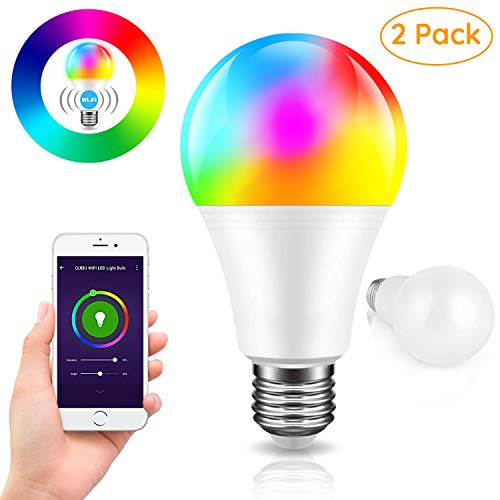 smart wifi led light bulb rgb color changing compatible with amazon alexa and google home. Black Bedroom Furniture Sets. Home Design Ideas
