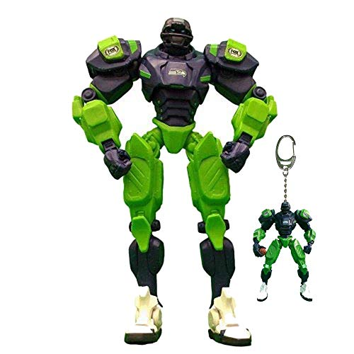 Awesome for Us NFL Seattle Seahawks Fox Sports Team Robot 10-inches Bundle with Key Chain 3-inches