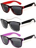 New Fashion Vintage Two -Tone colored frame Smoke Lens Sunglasses Retro 80's