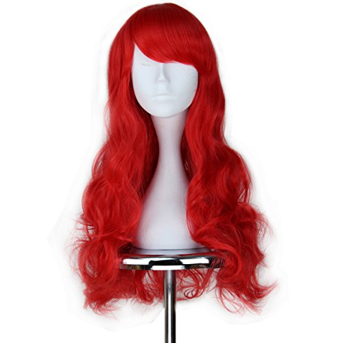 Miss U Hair Child Adult Long Wavy Red Hair Cosplay Costume Wig Halloween C117 -