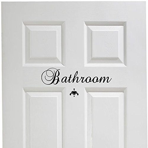 Bathroom Vinyl Decal Decor Vinyl Wall Decal Great House Warming Gift Powder Room Wall Decor © Decal the Walls