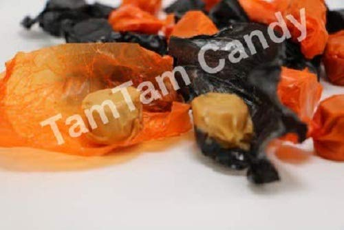 Melster's Peanut Butter Kisses Black and Orange Halloween Candy by TamTam Candy - 2 lb bulk for $<!--$18.99-->