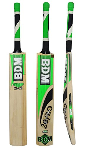 Smasher 20 - 20 BDM English Willow Wood Cricket Bat With Carry Case Adult Sizes - Choose Weight