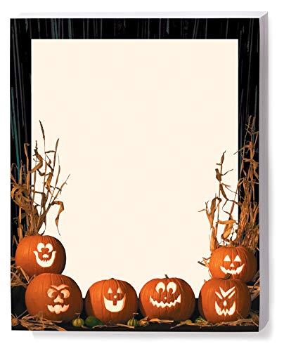 Halloween Stationery, Pumpkin Parade, 8.5 x 11, 25 Count