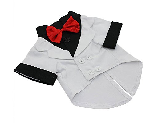 S-Lifeeling Gentleman Fashion Bowknot Teddy Dog Clothes Spring Summer Pet Costumes Comfortable Design Pet