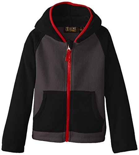 Block Jacket Black Color Boys' Fleece iXtreme wEO1B1