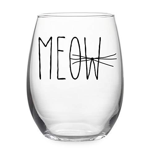 Susquehanna Glass Meow Stemless Wine Glass