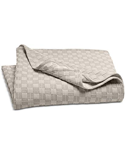 Hotel Collection Diamond Embroidery Quilted King Coverlet Beige