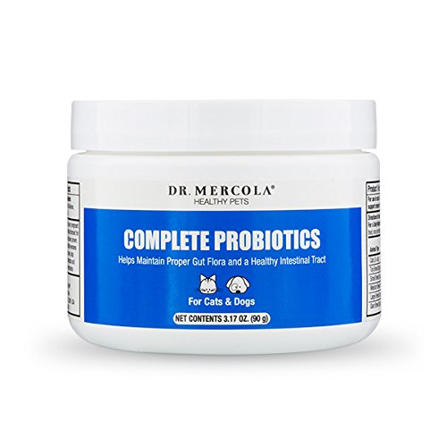 Dr. Mercola Complete Probiotics for Pets - Helps Develop A Healthy Digestive Tract - 14 Beneficial Bacterial Strains - Made In The USA - 90 Grams Probiotics Powder