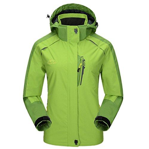 J-SUN-7 Couple Sport Jacket Outdoor Coat(Fluorescent Green(Women),US L/Asian 2XL)