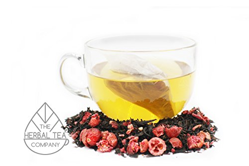 Holy Thistle Herb Blessed Black Cranberry Tea Bags With Vanilla Flavour 50 pack by The Herbal Tea Company