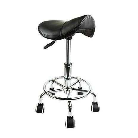Footrest Saddle Working Stool Doctor Dentist Salon Spa Barber Chair PU Leather (Black)  sc 1 st  Amazon.com & Amazon.com: Footrest Saddle Working Stool Doctor Dentist Salon Spa ... islam-shia.org