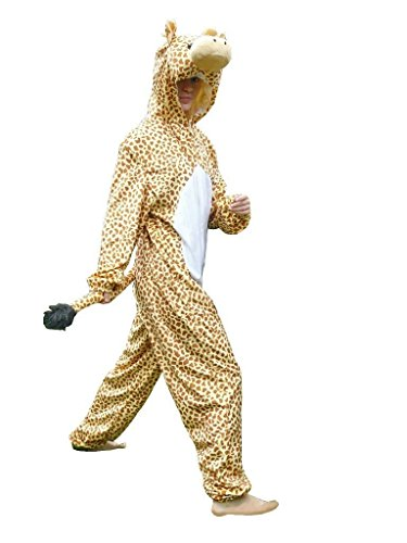 Fantasy World Giraffe Costume Halloween f. Men and Women, Size: XL/ 16-18, (2 Person Costume Cheap)